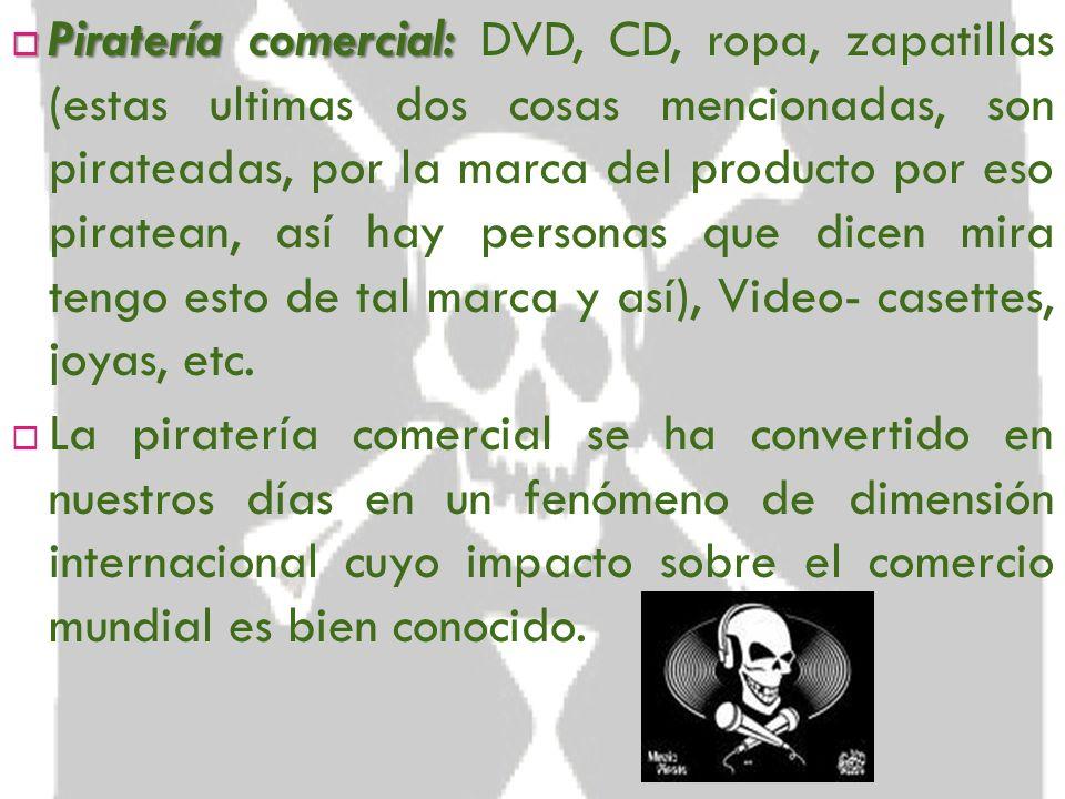 Los tres tipos de Piratería en México: La piratería en México se ha sofisticado tanto que entre los comerciantes de artículos ilegales se distinguen t