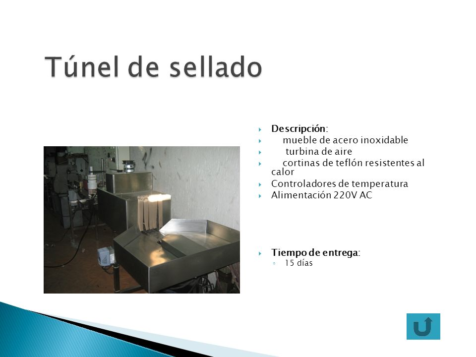 Descripción: mueble de acero inoxidable turbina de aire cortinas de teflón resistentes al calor Controladores de temperatura Alimentación 220V AC Tiem