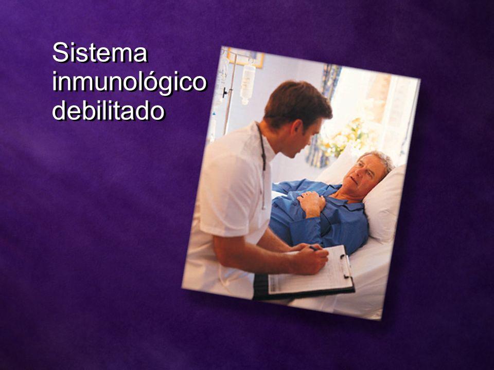 Sistema inmunológico debilitado