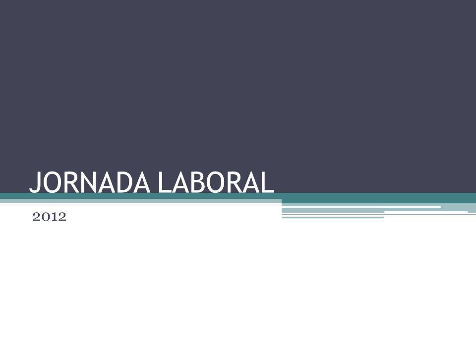 JORNADA ORDINARIA EN COLOMBIA La jornada ordinaria es la convengan las partes y a falta de este convenio se entenderá que es la máxima legal, la cual consiste en 8 horas diarias y 48 horas semanales.