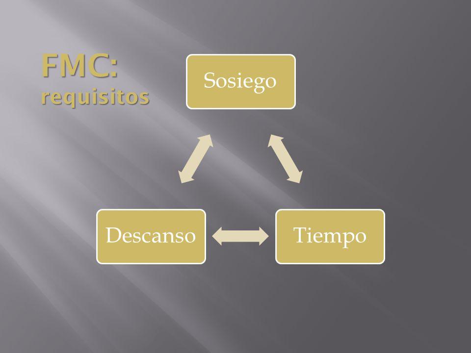 SosiegoTiempoDescanso FMC: requisitos