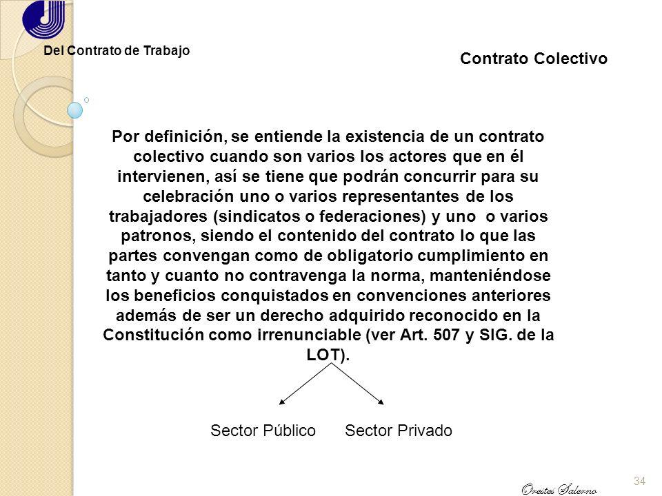 33 Orestes Salerno Del Contrato de Trabajo En la Administración Pública Sólo Personal especializado No constituye una vía de ingreso como funcionario