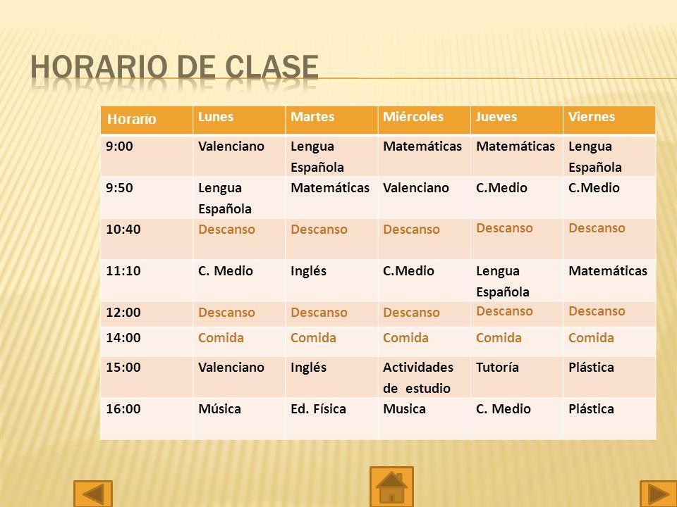 Tutora (Raquel Valero) Lunes y Miércoles de 9:00 a 11:00.