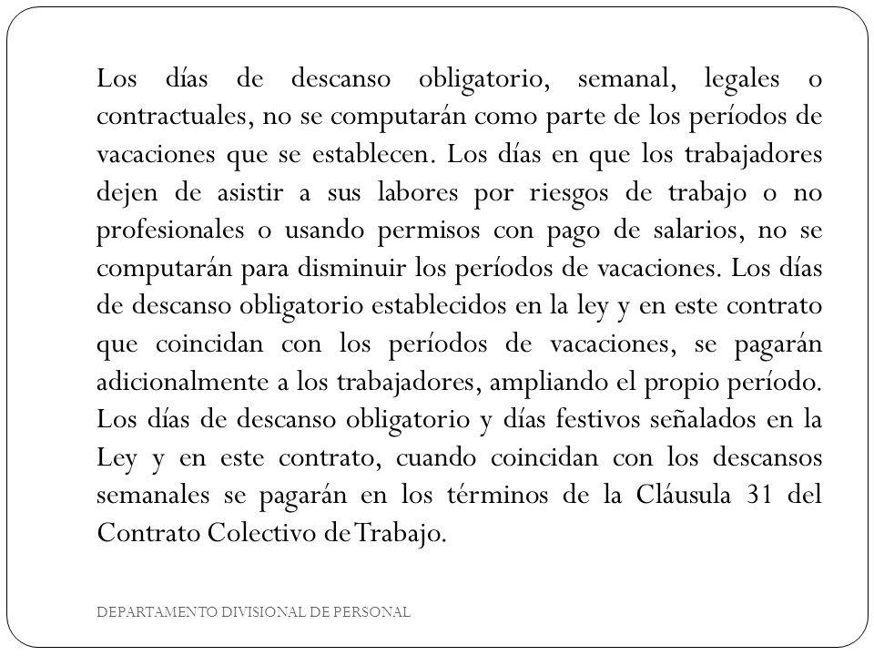 DEPARTAMENTO DIVISIONAL DE PERSONAL 4.