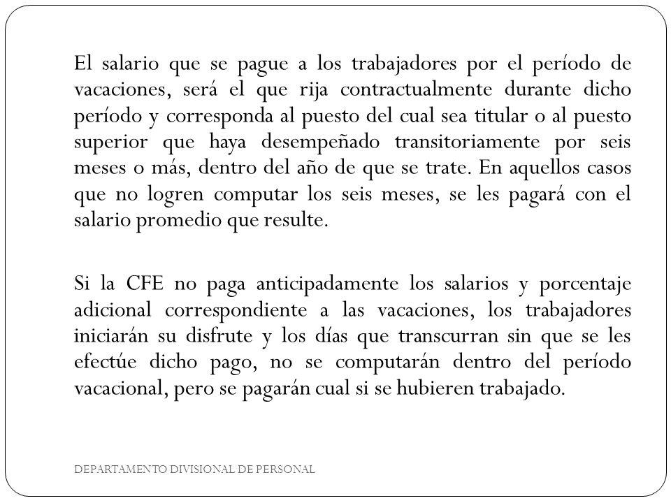 DEPARTAMENTO DIVISIONAL DE PERSONAL B.SIN GOCE DE SALARIO 1.