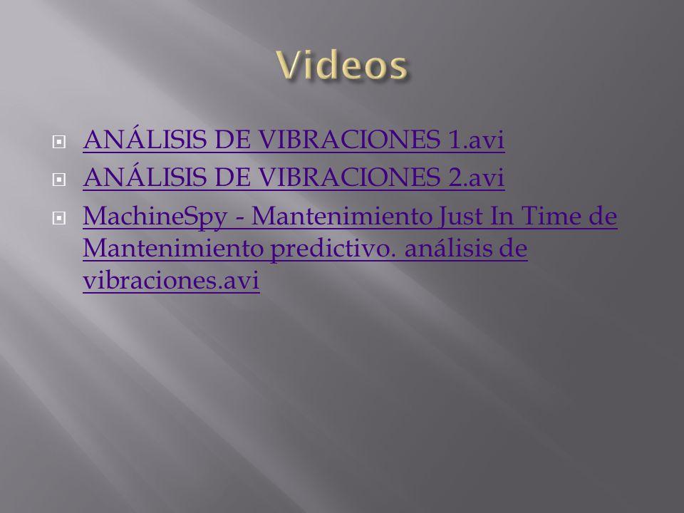 ANÁLISIS DE VIBRACIONES 1.avi ANÁLISIS DE VIBRACIONES 2.avi MachineSpy - Mantenimiento Just In Time de Mantenimiento predictivo. análisis de vibracion