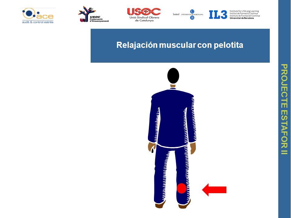 PROJECTE ESTAFOR II Relajación muscular con pelotita