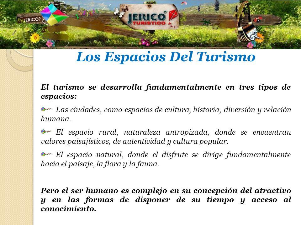 Los Espacios Del Turismo El turismo se desarrolla fundamentalmente en tres tipos de espacios: Las ciudades, como espacios de cultura, historia, divers