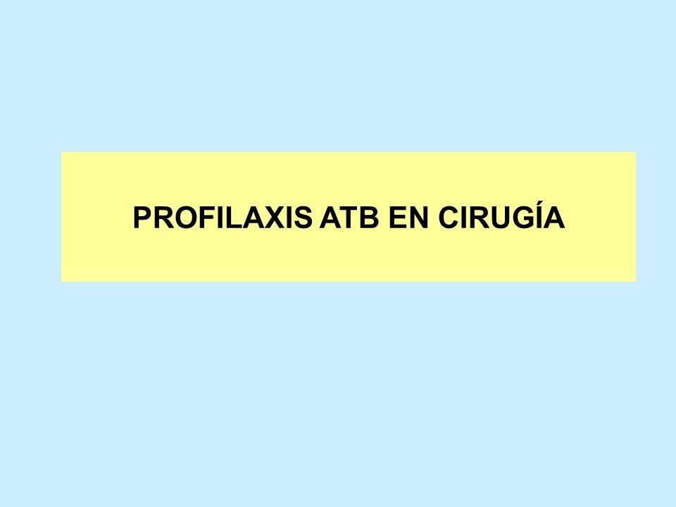 PROFILAXIS ATB EN CIRUGÍA