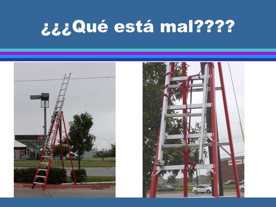 Escaleras y Escalas 1926.1053 Escalas (General) l (a)(8) Se tiene que proveer un separador de metal o dispositivo de cierre en cada escala de tijera (