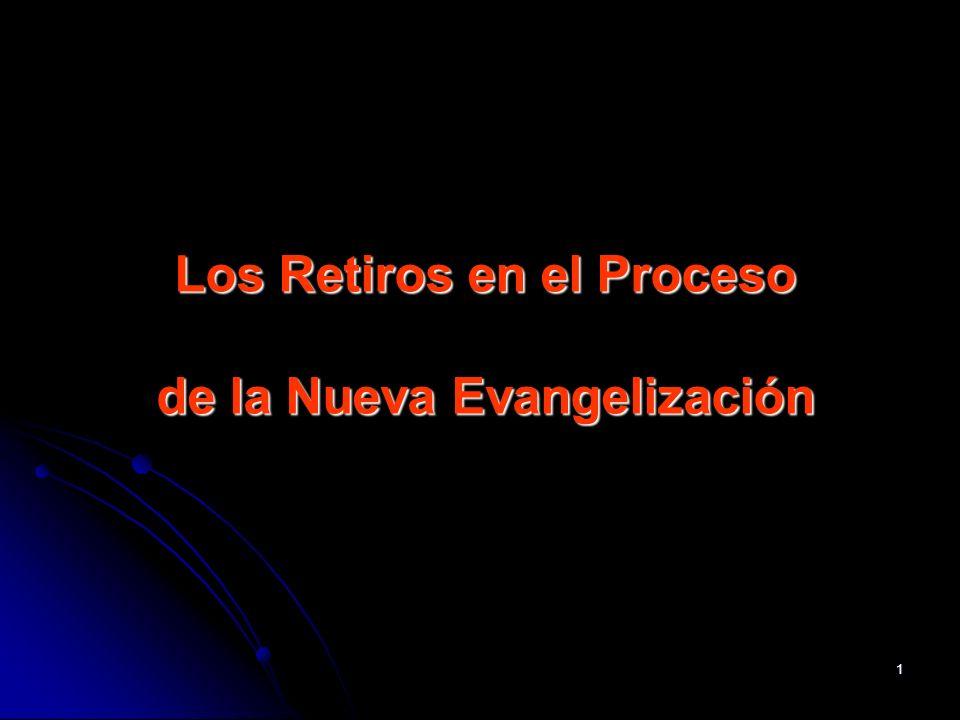 1 Los Retiros en el Proceso de la Nueva Evangelización