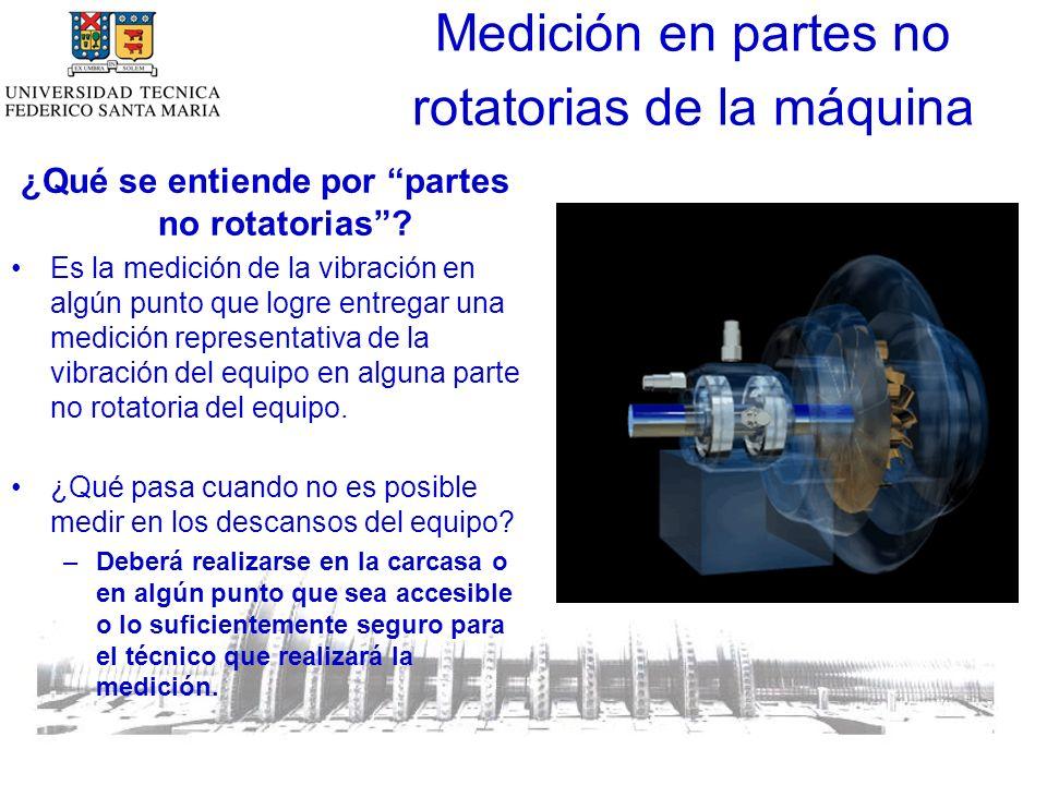 Medición en partes no rotatorias de la máquina ¿Qué se entiende por partes no rotatorias.