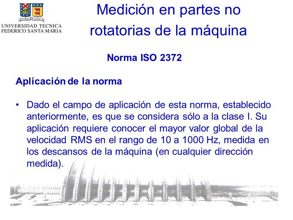 Norma ISO 2372 Aplicación de la norma Dado el campo de aplicación de esta norma, establecido anteriormente, es que se considera sólo a la clase I.
