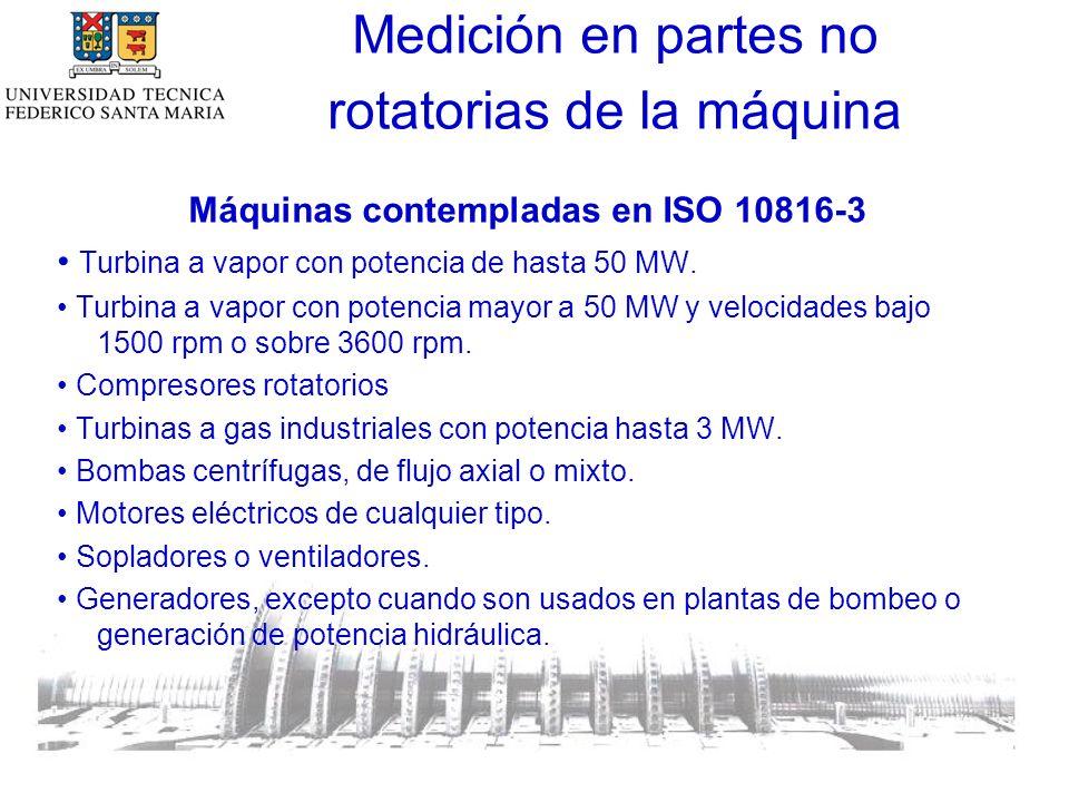 Máquinas contempladas en ISO 10816-3 Turbina a vapor con potencia de hasta 50 MW.