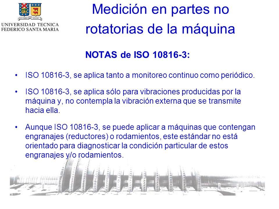 NOTAS de ISO 10816-3: ISO 10816-3, se aplica tanto a monitoreo continuo como periódico.