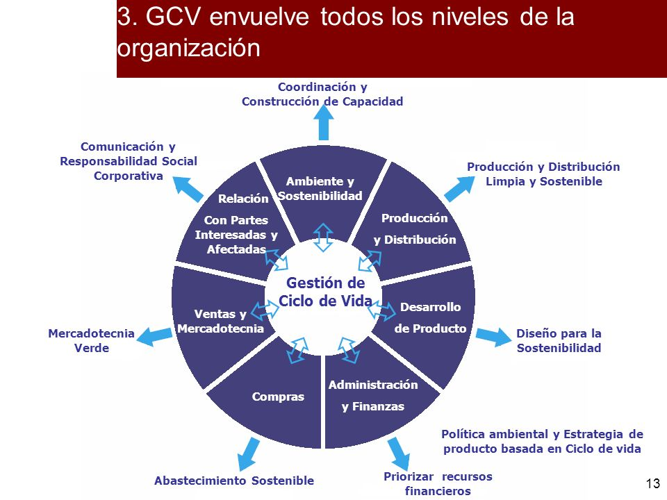 13 Ambiente y Sostenibilidad Producción y Distribución Desarrollo de Producto Administración y Finanzas Compras Ventas y Mercadotecnia Relación Con Pa