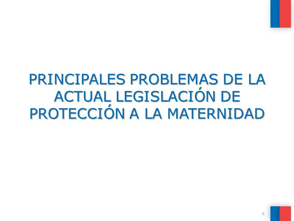 PRINCIPALES PROBLEMAS DE LA ACTUAL LEGISLACIÓN DE PROTECCIÓN A LA MATERNIDAD 6