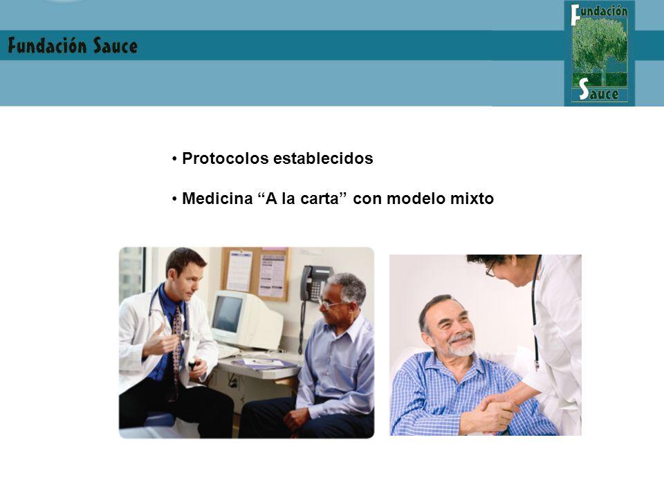 Protocolos establecidos Medicina A la carta con modelo mixto