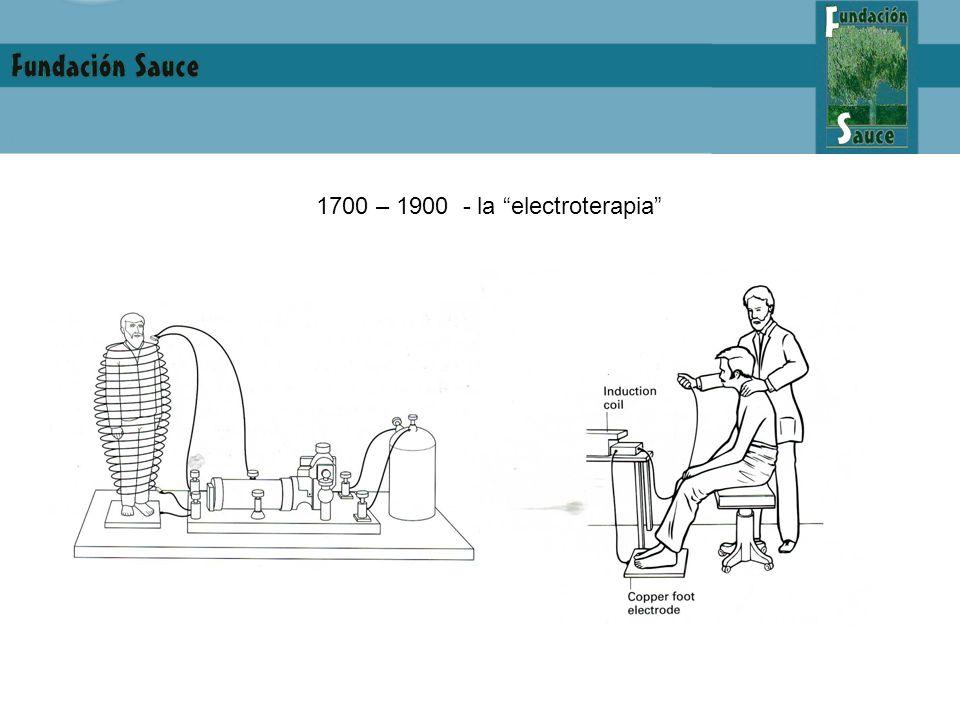 1700 – 1900 - la electroterapia