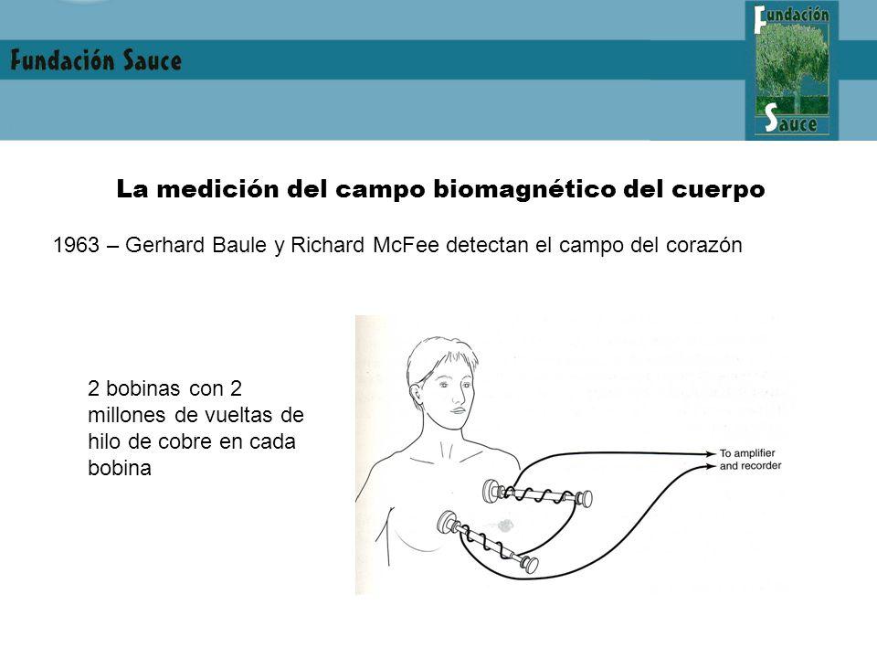 La medición del campo biomagnético del cuerpo 1963 – Gerhard Baule y Richard McFee detectan el campo del corazón 2 bobinas con 2 millones de vueltas de hilo de cobre en cada bobina