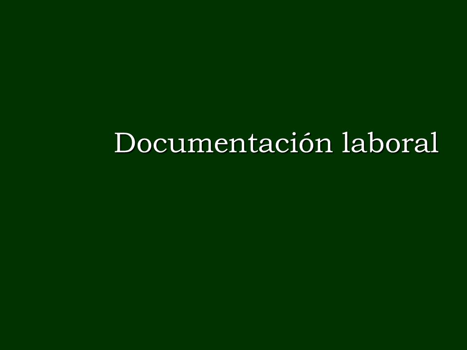 Documentación laboral