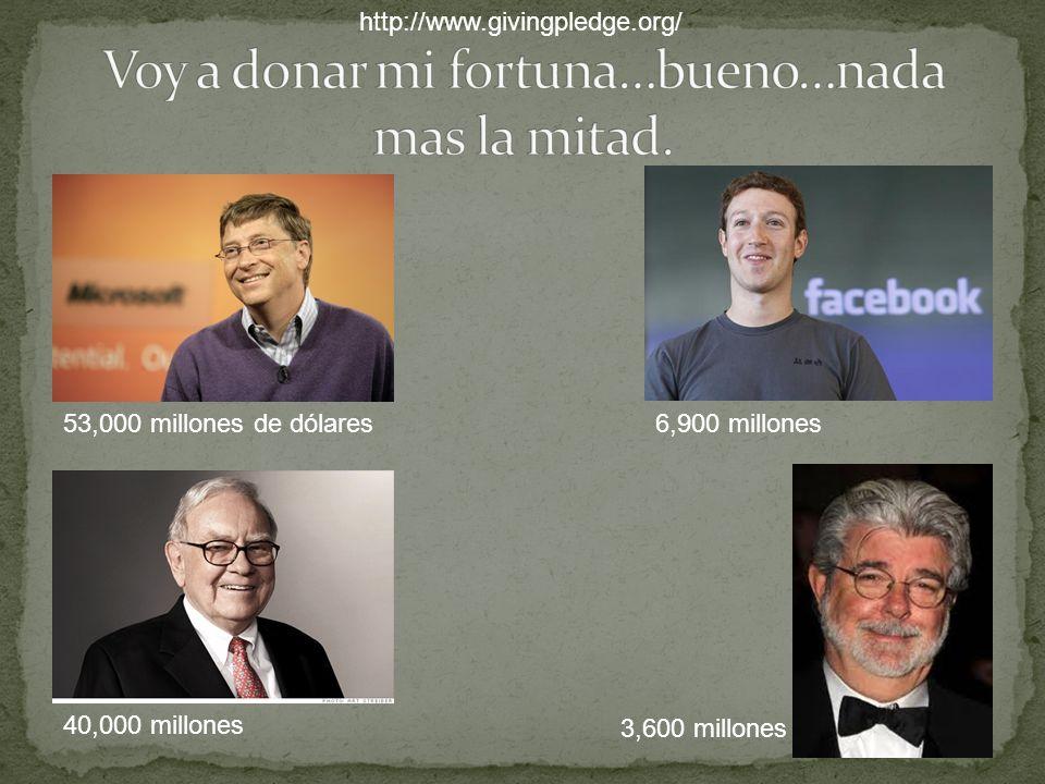 53,000 millones de dólares6,900 millones 40,000 millones 3,600 millones http://www.givingpledge.org/