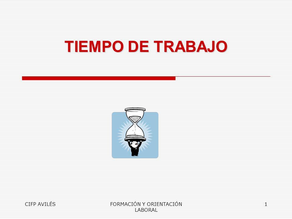 CIFP AVILÉSFORMACIÓN Y ORIENTACIÓN LABORAL 1 TIEMPO DE TRABAJO