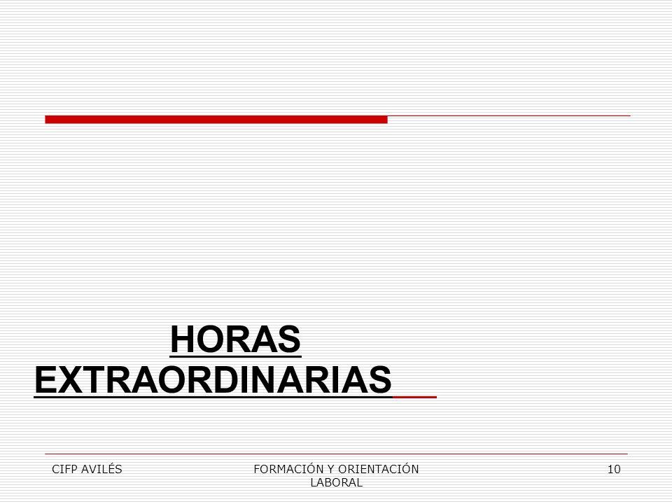 CIFP AVILÉSFORMACIÓN Y ORIENTACIÓN LABORAL 10 HORAS EXTRAORDINARIAS