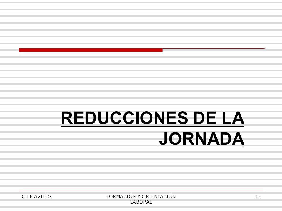 CIFP AVILÉSFORMACIÓN Y ORIENTACIÓN LABORAL 13 REDUCCIONES DE LA JORNADA