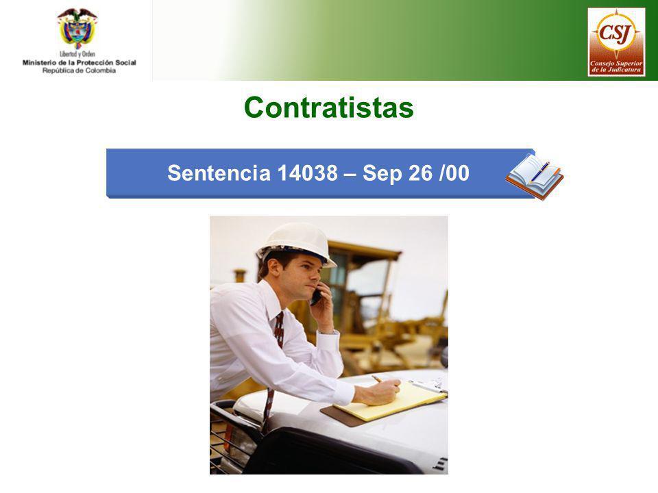 Sentencia 14038 – Sep 26 /00 Contratistas