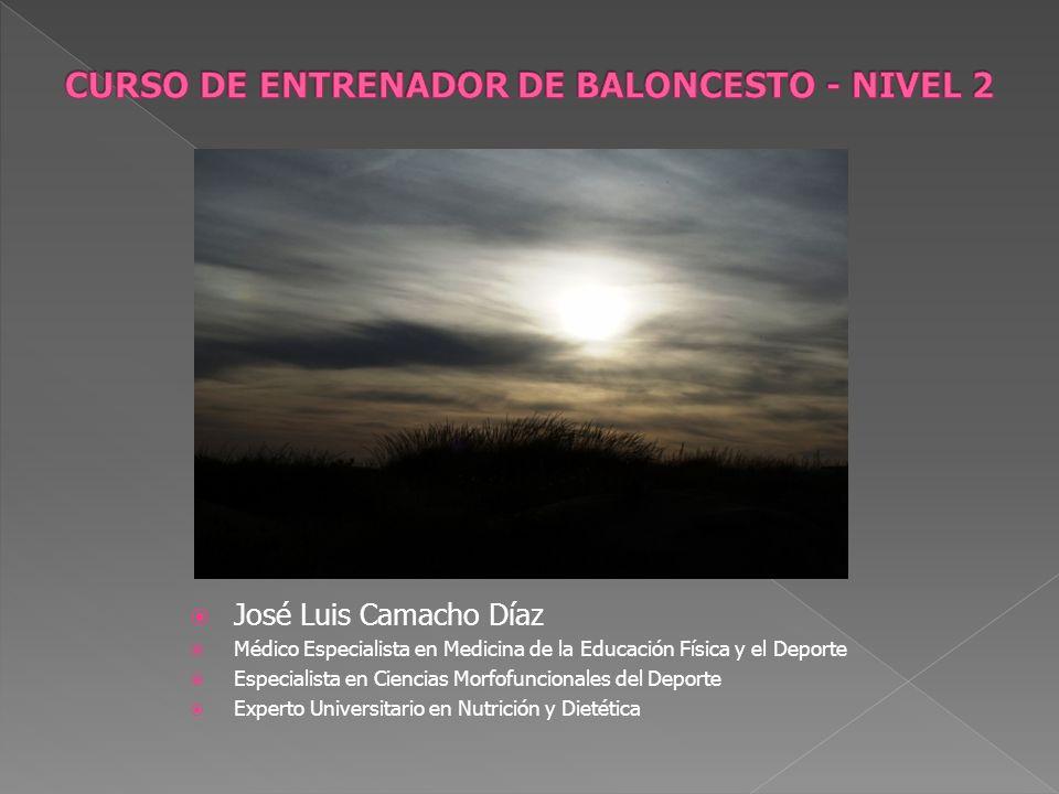 José Luis Camacho Díaz Médico Especialista en Medicina de la Educación Física y el Deporte Especialista en Ciencias Morfofuncionales del Deporte Exper