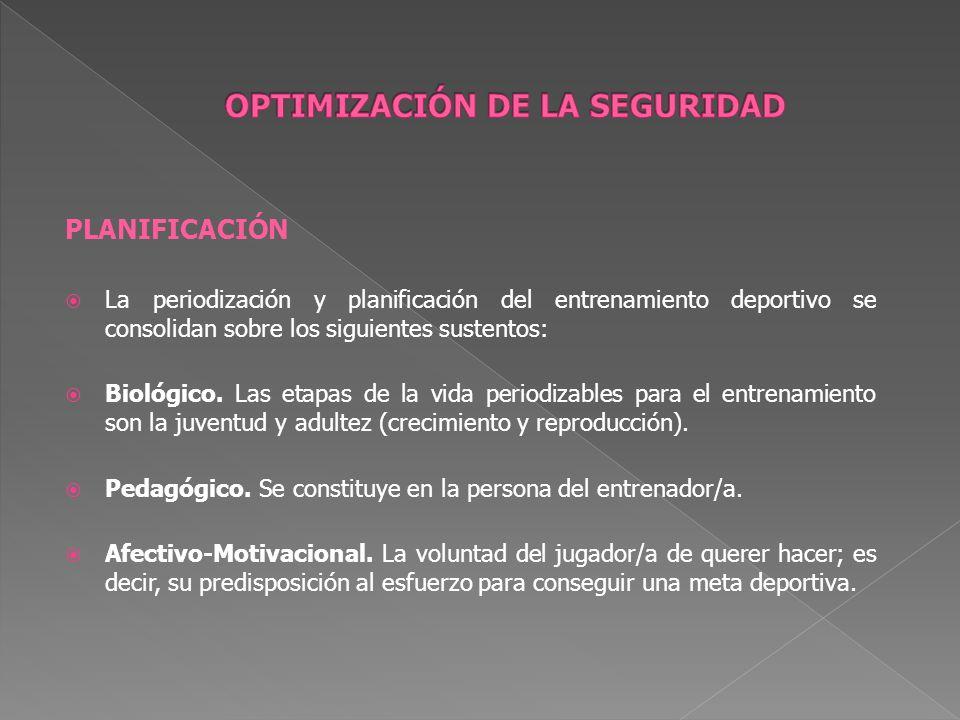 PLANIFICACIÓN La periodización y planificación del entrenamiento deportivo se consolidan sobre los siguientes sustentos: Biológico. Las etapas de la v