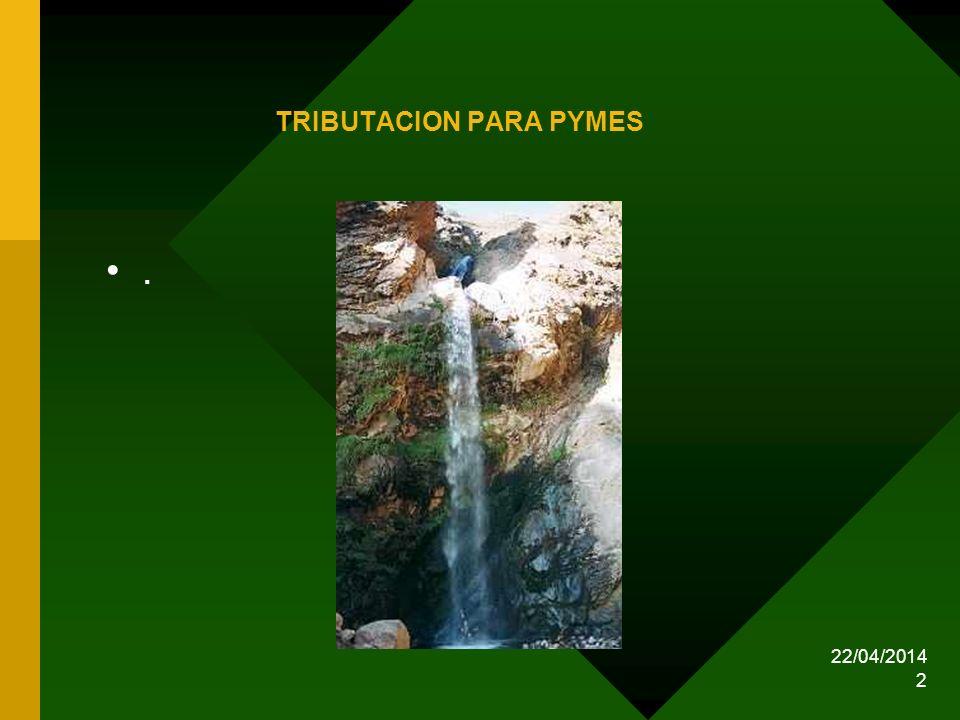 22/04/2014 2 TRIBUTACION PARA PYMES.