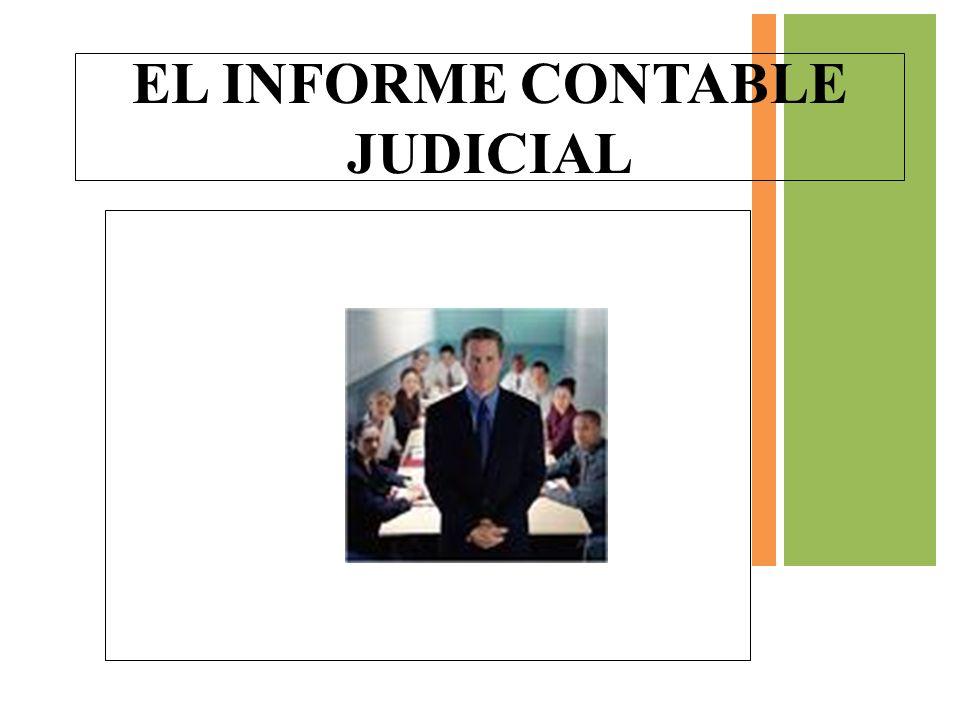 EL INFORME CONTABLE JUDICIAL