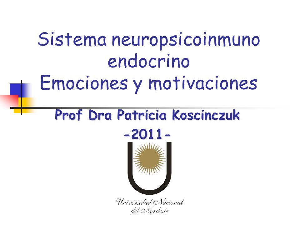 Sistema neuropsicoinmuno endocrino Emociones y motivaciones Prof Dra Patricia Koscinczuk -2011-