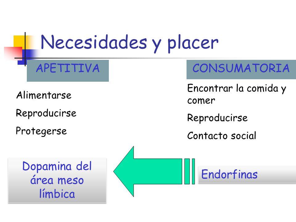 Bienestar y necesidades Necesidades de recursos particulares Necesidades con una meta u objetivo