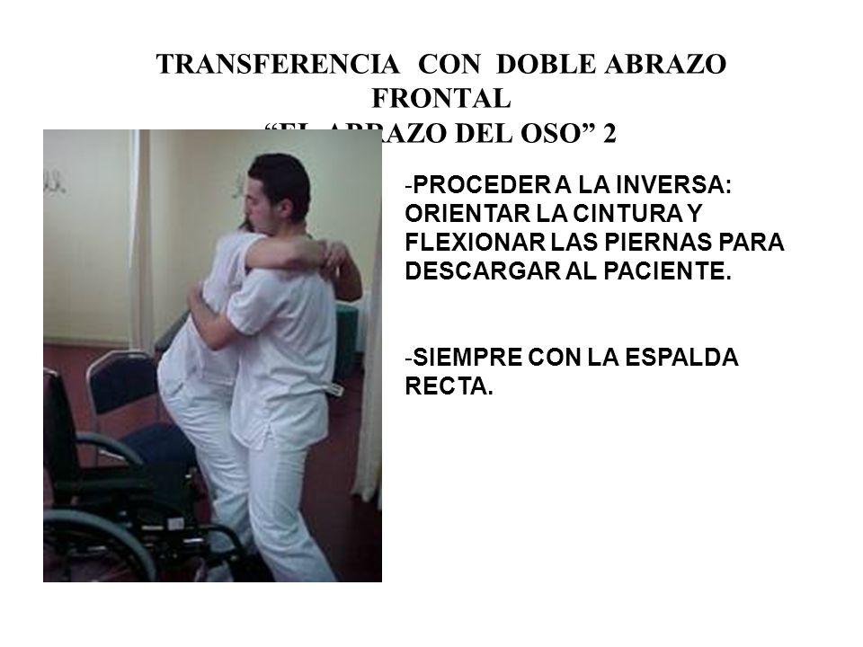 TRANSFERENCIA CON DOBLE ABRAZO FRONTAL EL ABRAZO DEL OSO -SEPARACION PIERNAS.