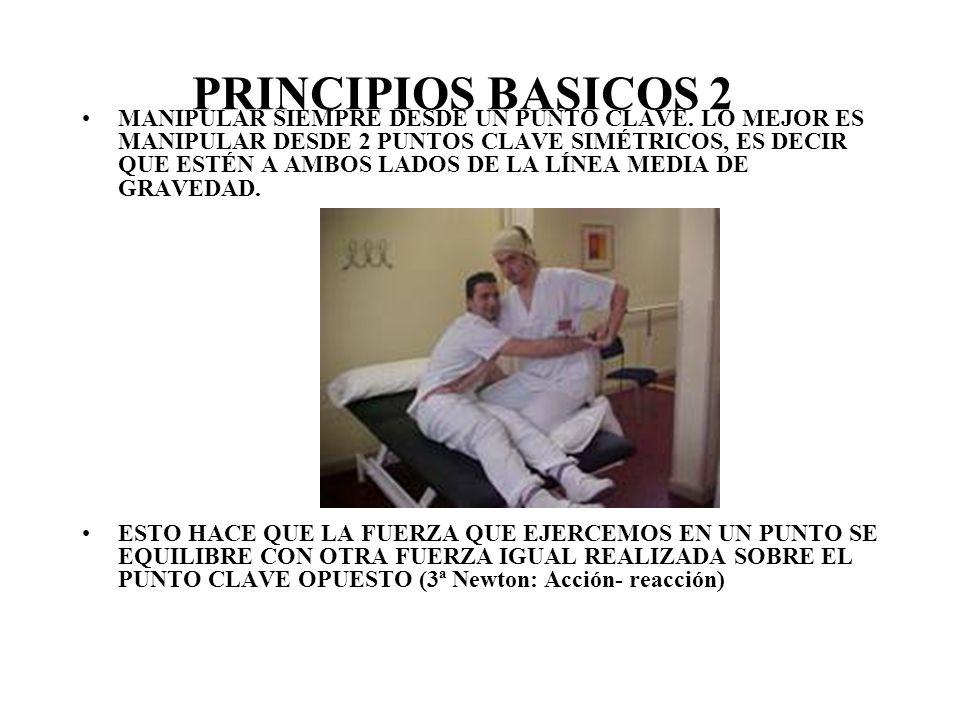 PRINCIPIOS BASICOS ESPALDA RECTA.FLEXIONAR RODILLAS.