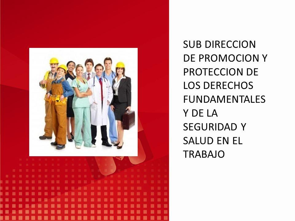 SUB DIRECCION DE PROMOCION Y PROTECCION DE LOS DERECHOS FUNDAMENTALES Y DE LA SEGURIDAD Y SALUD EN EL TRABAJO