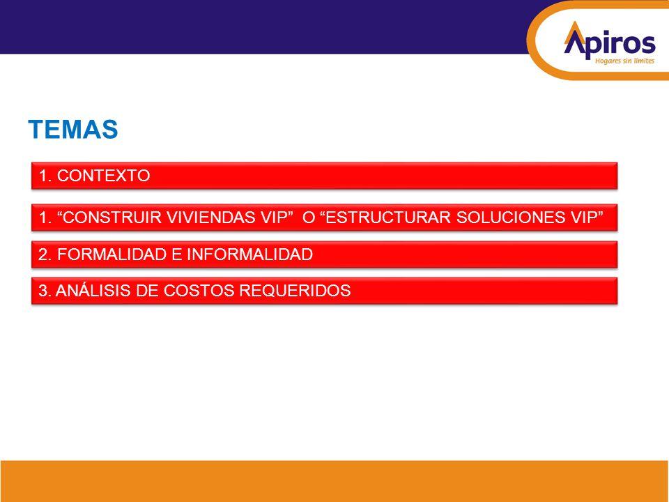 Análisis de los costos de urbanismo Estudio CAMACOL B & C - METROVIVIENDA Costos de las vías.