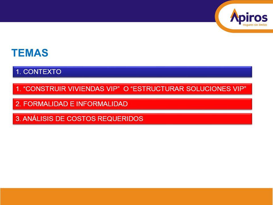 79.1% 2,594 82% 3,280 Formación anual de hogares Bogotá - Soacha Bucaramanga 100% 3,998 Construcción anual de viviendas Vivienda formal 46% 31,108 109% 67,922 100% 62,139 51% 58,059 Total 7 ciudades 100% 112,540 101% 113,841 Fuente: DNP.
