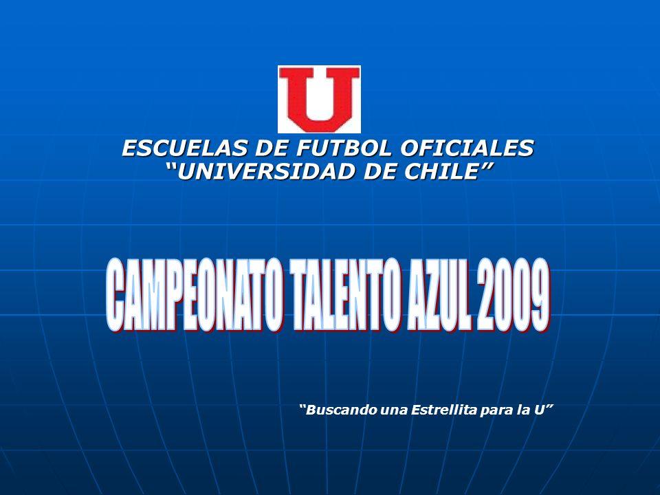 ESCUELAS DE FUTBOL OFICIALES UNIVERSIDAD DE CHILE Buscando una Estrellita para la U