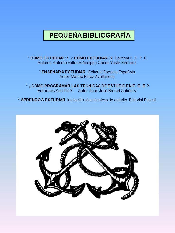 PEQUEÑA BIBLIOGRAFÍA * CÓMO ESTUDIAR / 1 y CÓMO ESTUDIAR / 2.