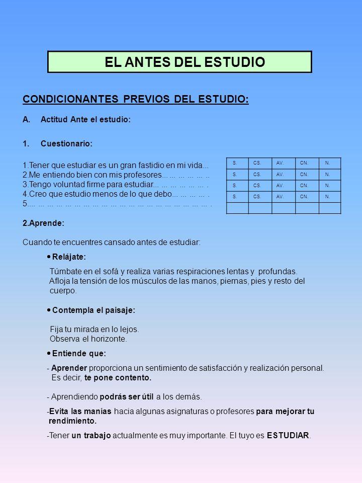 B.Ambiente externo: 1. Cuestionario: S.CS.AV.CN. N.