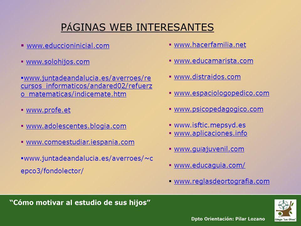 20 www.educcioninicial.com www.solohijos.com www.juntadeandalucia.es/averroes/re cursos_informaticos/andared02/refuerz o_matematicas/indicemate.htm ww