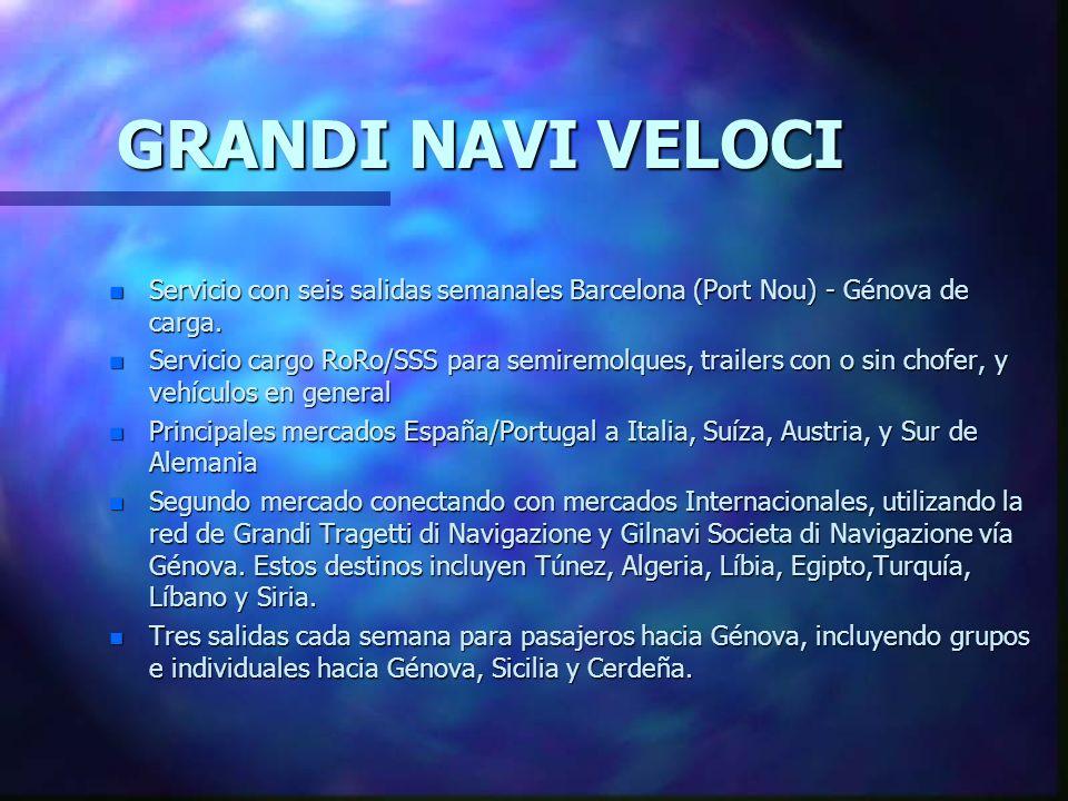 nGnGnGnGRANDI NAVI VELOCI perteneciente al Grupo Grimaldi Genova - es una de las 10 navieras más importantes del mundo. nGnGnGnGRANDI NAVI VELOCI es u