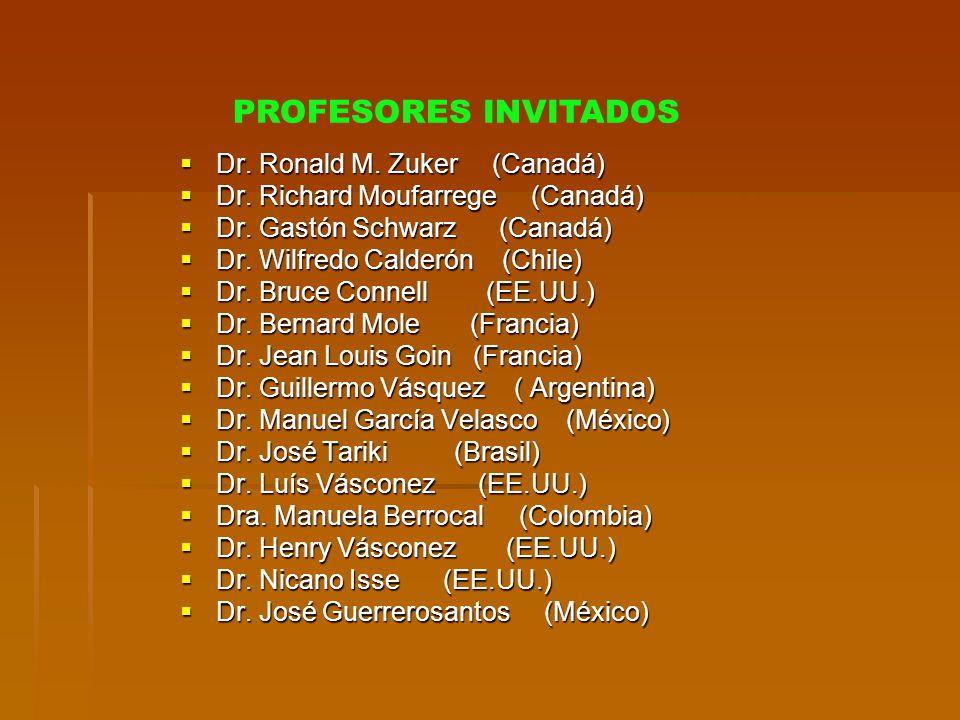 Dr. Ronald M. Zuker (Canadá) Dr. Ronald M. Zuker (Canadá) Dr. Richard Moufarrege (Canadá) Dr. Richard Moufarrege (Canadá) Dr. Gastón Schwarz (Canadá)