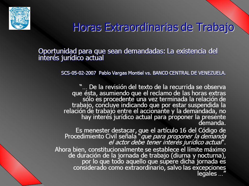 Oportunidad para que sean demandadas: La existencia del interés jurídico actual SCS-05-02-2007 Pablo Vargas Montiel vs.