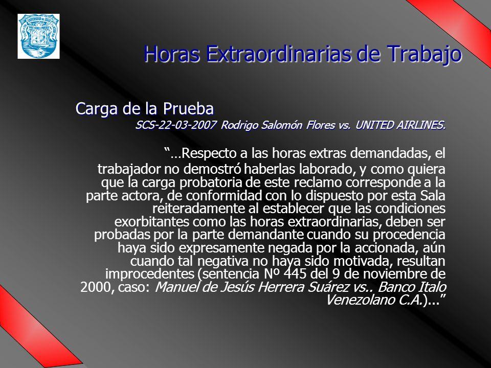 Carga de la Prueba SCS-22-03-2007 Rodrigo Salomón Flores vs.