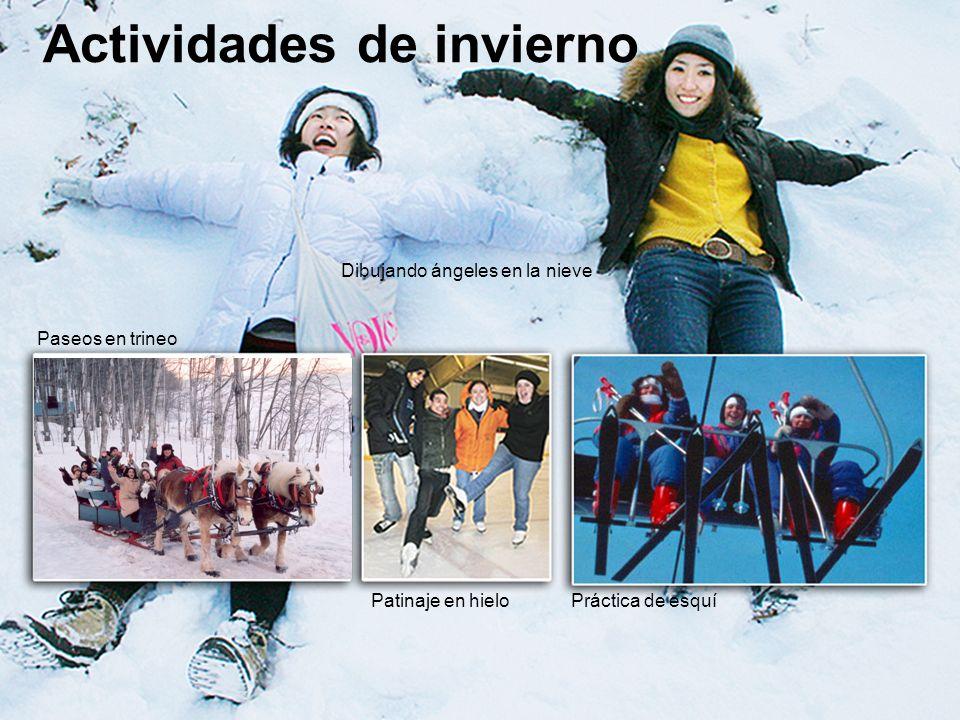 www.ili.ca study@ili.ca Actividades de invierno Paseos en trineo Patinaje en hieloPráctica de esquí Dibujando ángeles en la nieve